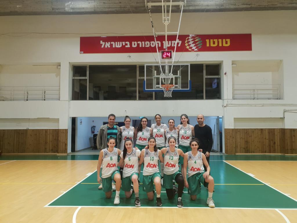 קבוצת הנשים של מכבי חיפה (צילום: סמיח כיוף)