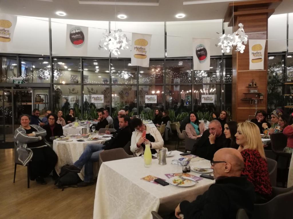 אירוע השקת חוברת מתכונים צמחוניים בשפה הערבית של עמותת יום שני ללא בשר