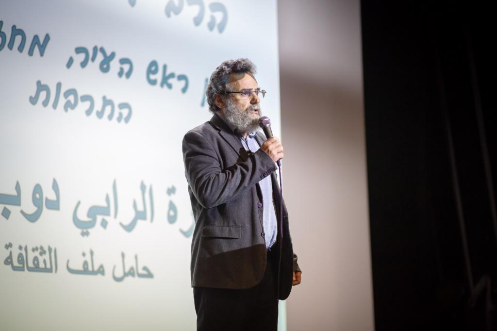 הרב דובי חיון - סגן ראש עיריית חיפה - ועידת מועצת התלמידים הנוער  העירונית בחיפה (צילום: עדי אביקזר - דוברות מועצת הנוער העירונית)