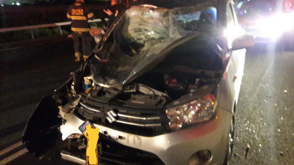 תאונת דרכים כביש 77 צומת יגור צילום: איחוד הצלה