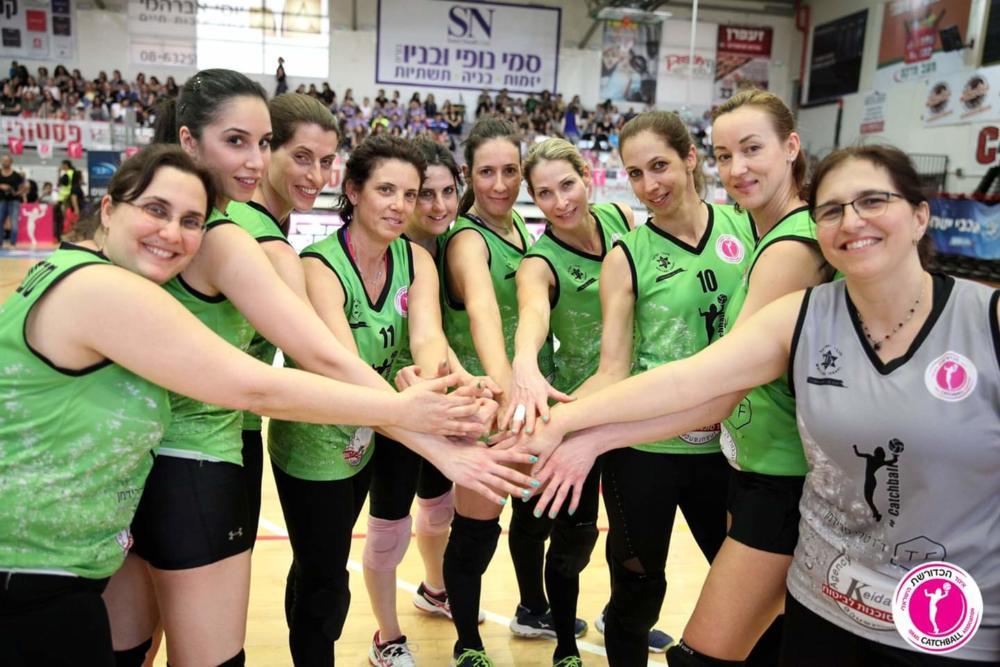"""מכבי """"ונוס"""" חיפה (צילום: ליאב פלד, מטעם איגוד הכדורשת הישראלי )"""