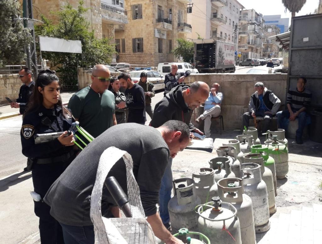 מיכלי גז צילום משטרת ישראל