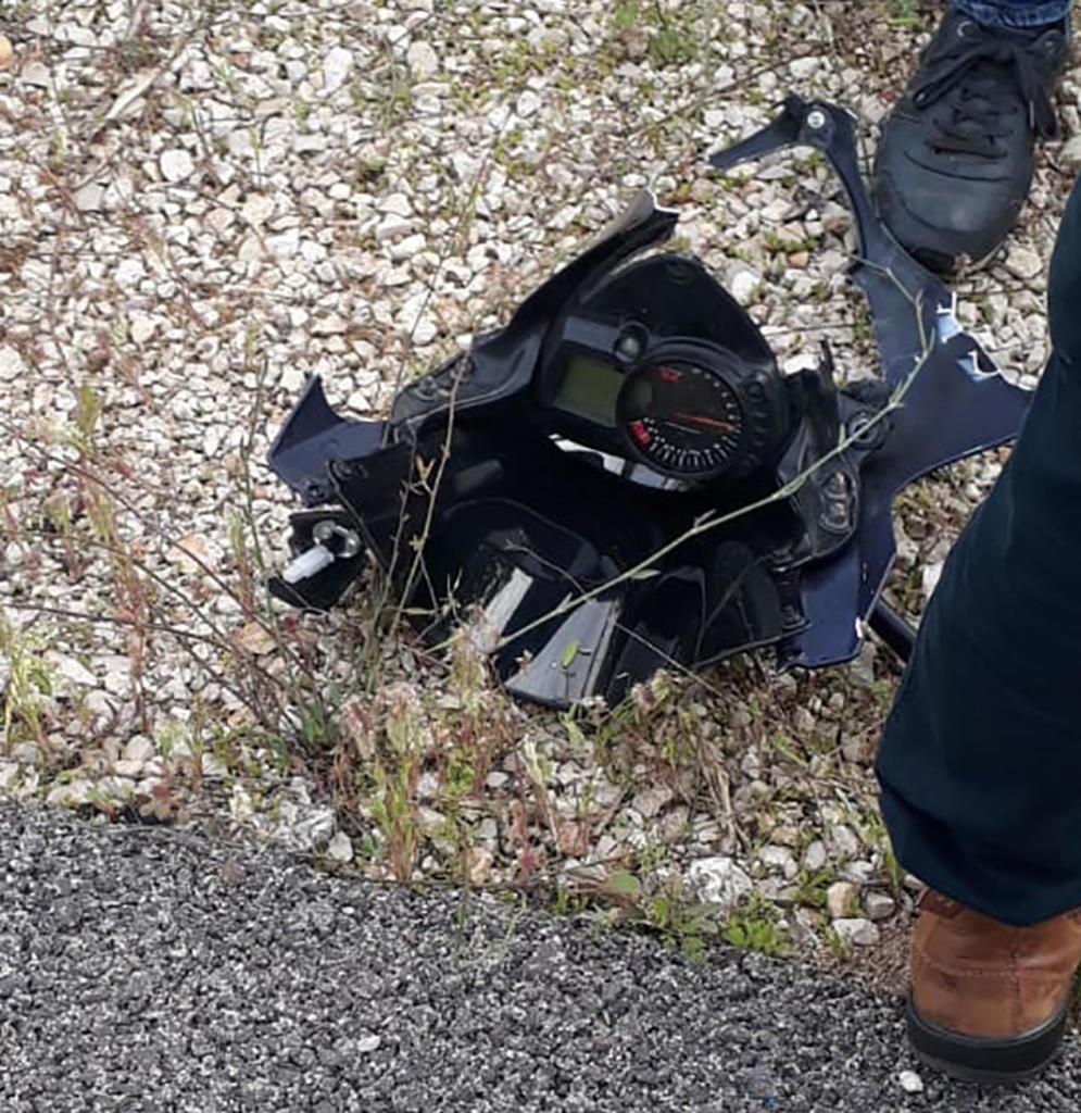 חלקי אופנוע - רוכב אופנוע נהרג בתאונה בסמוך למפעל דשנים בקרית אתא (צילום: איחוד הצלה)
