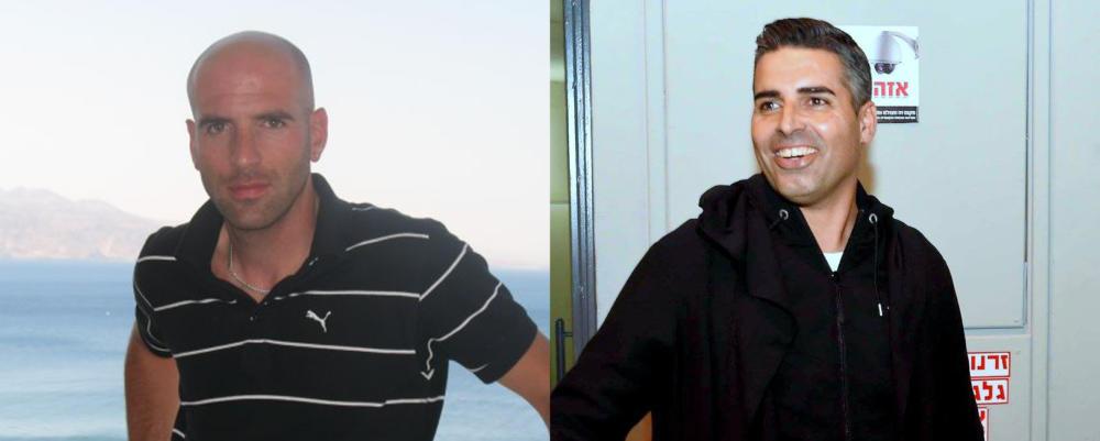 מימין - חיים סילבס (צילום: יוסף הירש), משמאל - אלדד שביט (צילום: אלבום אישי)