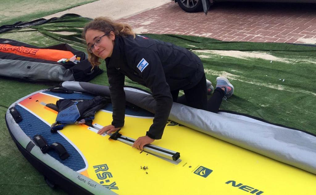 נעמה גזית מחיפה היא אלופת אירופה בשייט בגלשני RSX האולימפיים לנוער 2019 (צילום: אלבום אישי)