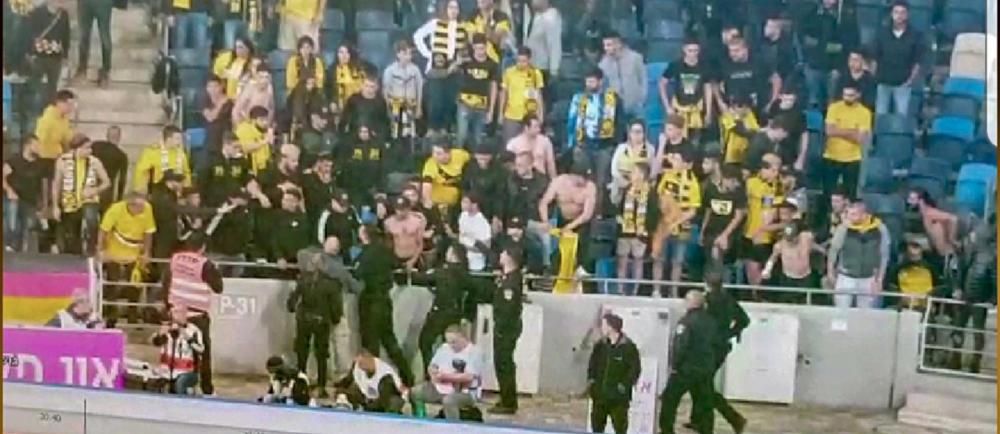 האלימות במגרש הכדורגל בחיפה: חמישה עצורים בהתפרעות בסמי עופר (צילום: משטרת ישראל)