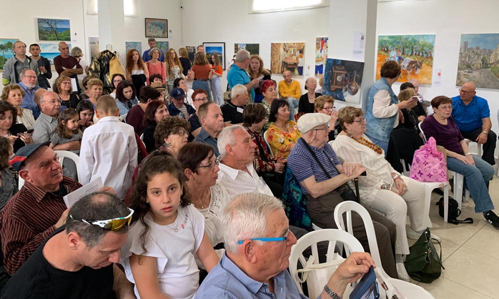 """""""חיפה 51 שכונות"""" - פתיחת התערוכה בבית אגודת האמנים ע""""ש שאגאל (צילום: ירון כרמי)"""