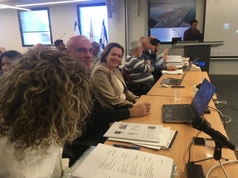 ועדת המשנה לעררים במינהל התכנון בירושלים בנושא מפרץ חיפה צילום: אלה נוה)