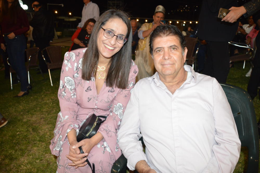 אלי דבי ושרית גולן במימונה בספורטן חיפה (צילום:שרה איקו)