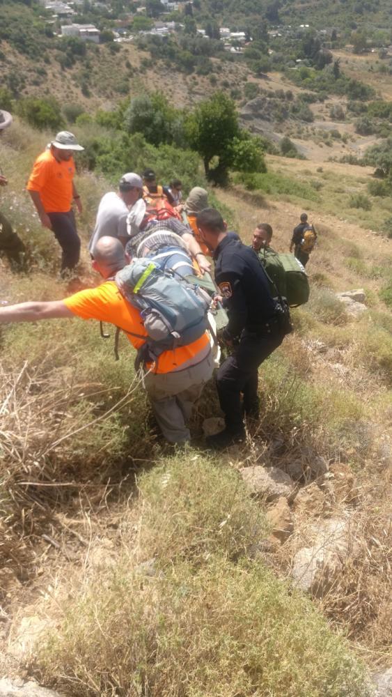 חילוץ מטיילים (צילום משטרת ישראל)