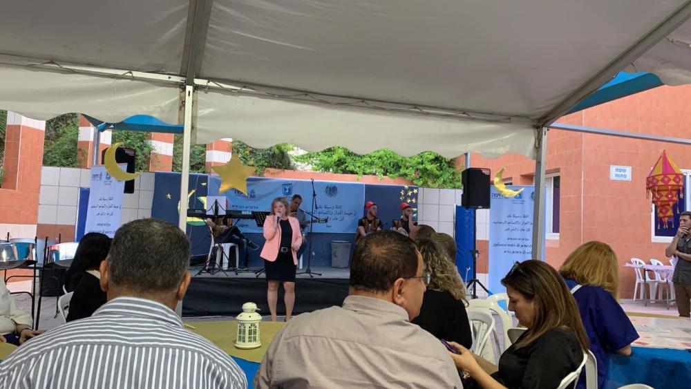 בתמונה: סיגל ציוני, חברת מועצת העיר חיפה וממונה על החינוך בכנס שהתקיים בחיפה  (צילום: שי כרמי)