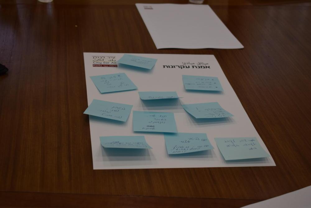 עיר לכולן בחיפה, אמנת עקרונות (צילום: ראובן כהן, עיריית חיפה)