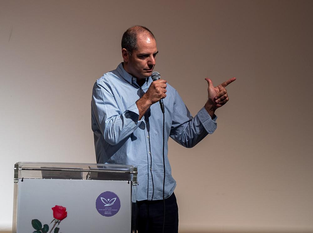 אנדרי סויידאן - ערב למען מרכז הסיוע לנפגעות ונפגעי תקיפה מינית (צילום: ירון כרמי)