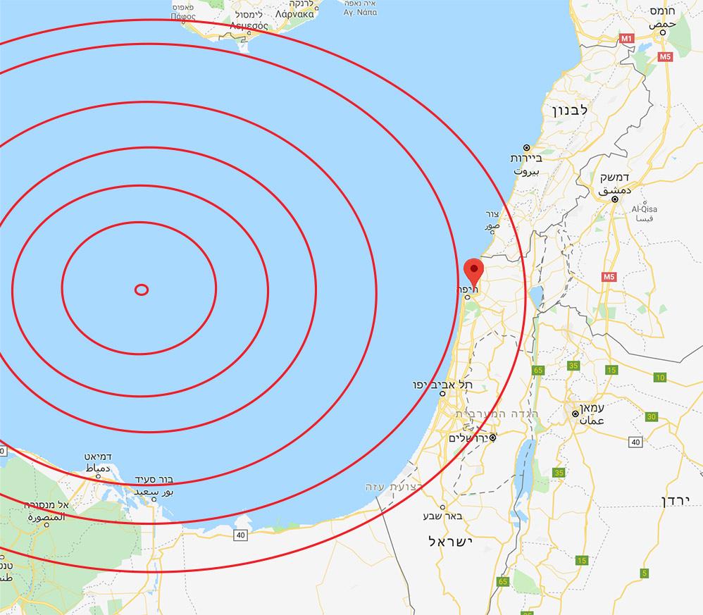 רעידת אדמה מערבית לחיפה