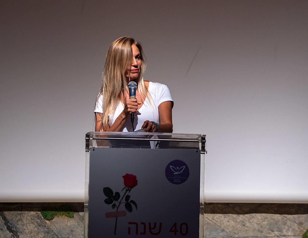 שרון פרי - ערב למען מרכז הסיוע לנפגעות ונפגעי תקיפה מינית (צילום: ירון כרמי)