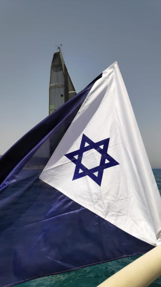 דגל חיל הים בטקס - 20 שנה לאיתור שרידי הדקר - הטקס בחיפה - 31/5/19 (צילום: מנדי שפונד)