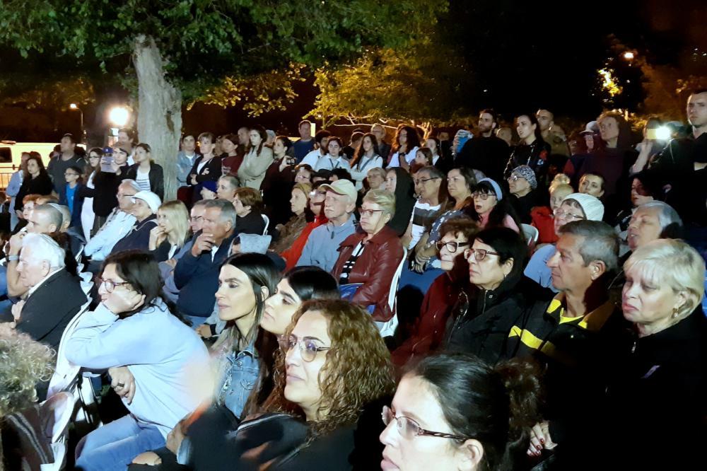 טקס הזיכרון בשכונת קריית אליעזר (צילום: אדיר יזירף)