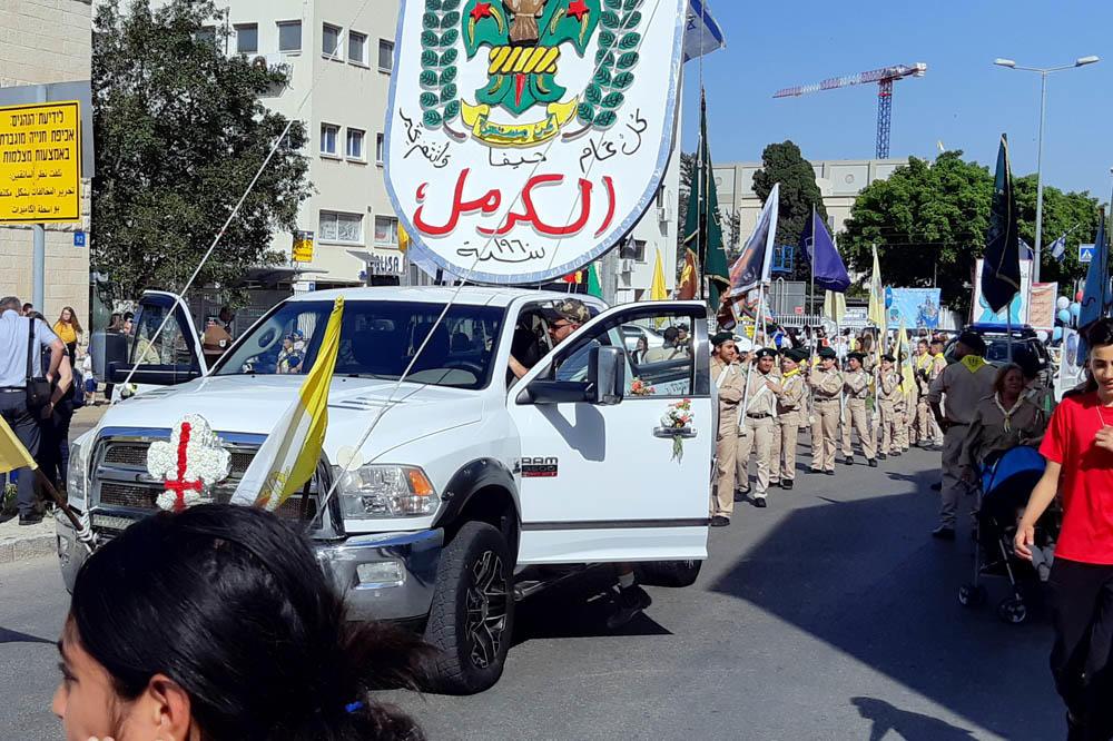 """תהלוכת """"מריה הקדושה"""" בחיפה (צילומים: אדיר יזירף)"""