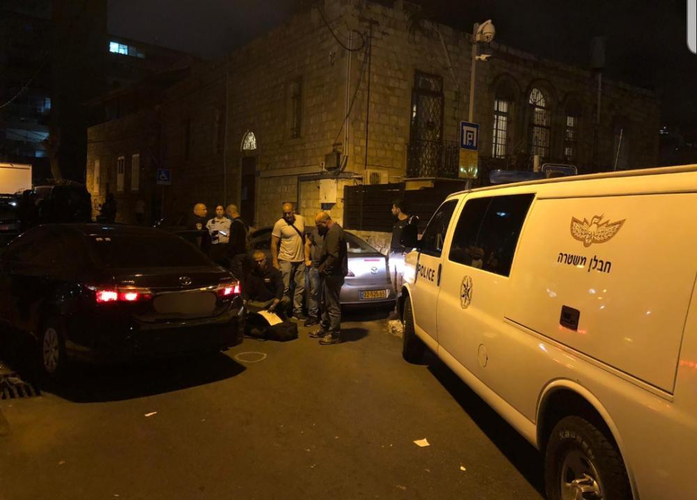 ירי ברחוב י.ל. פרץ בחיפה • שני פצועים בינוני וקל עד בינוני (צילום: משטרת ישראל)