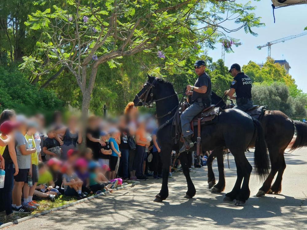המשטרה ערכה יום קהילתי לילדים מיוחדים בחיפה (צילום: דוברות המשטרה)