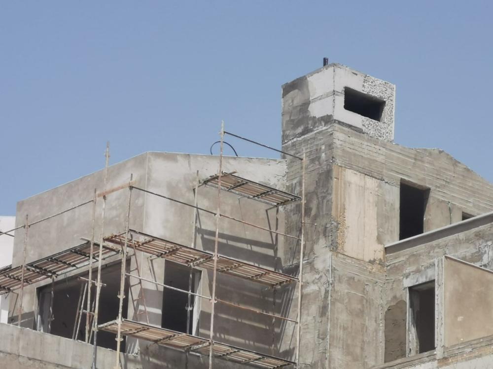 אתר בנייה (צילום: סמר עודה כרנתינג'י)