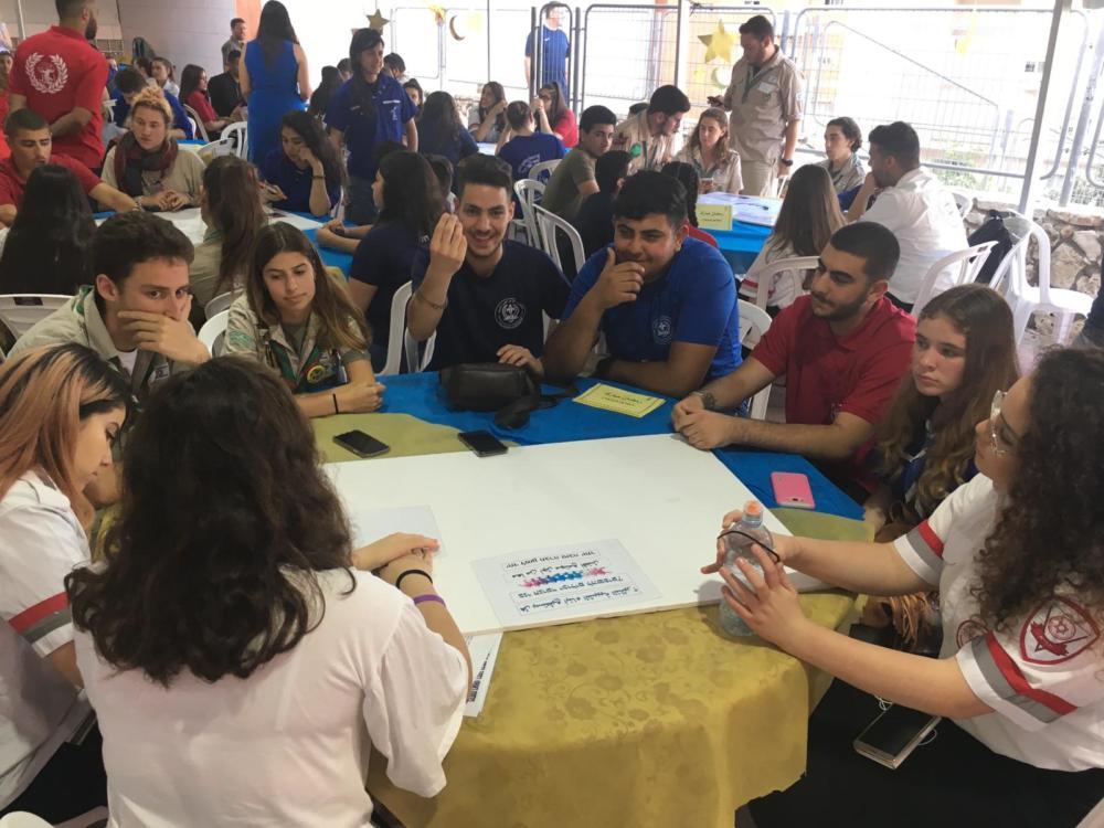 בני הנוער בחיפה בשיח משותף  (צילום: שי כרמי)