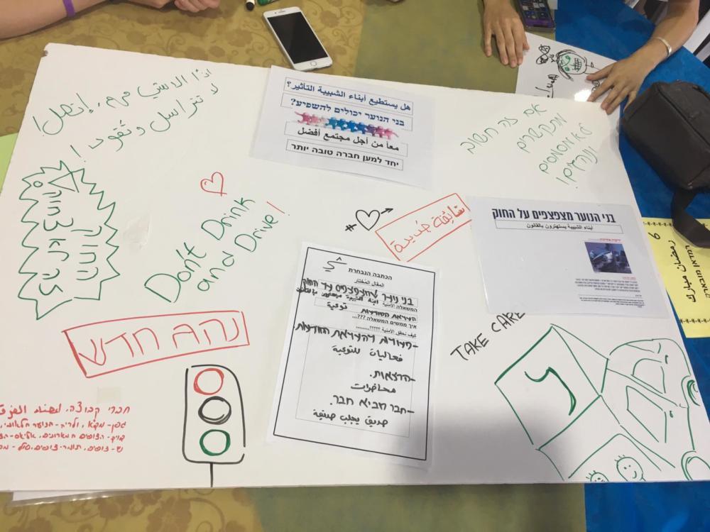"""מתוך פעילות בני הנוער. מעגלי שיח """"באוהל הידברות"""" בחיפה  (צילום: שי כרמי)"""