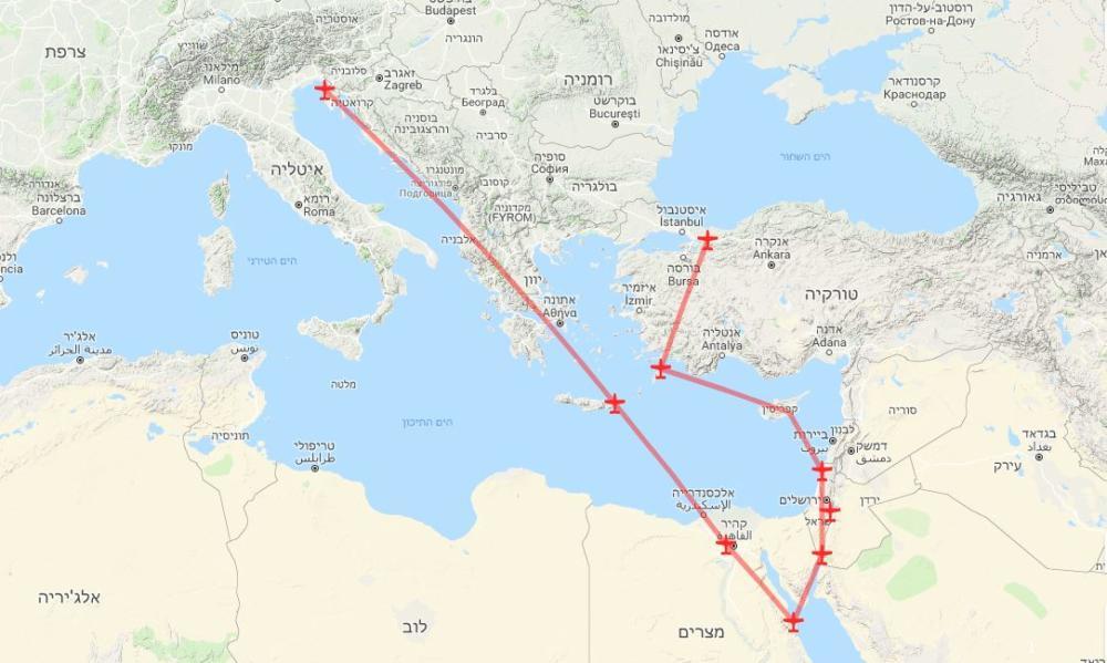 מפת מסלול המטס 2019 לזכרו של הנס גוטמן