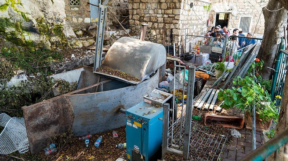 מערת אליהו בחיפה - מצב קיים - מאי 2019 (צילום: ירון כרמי)