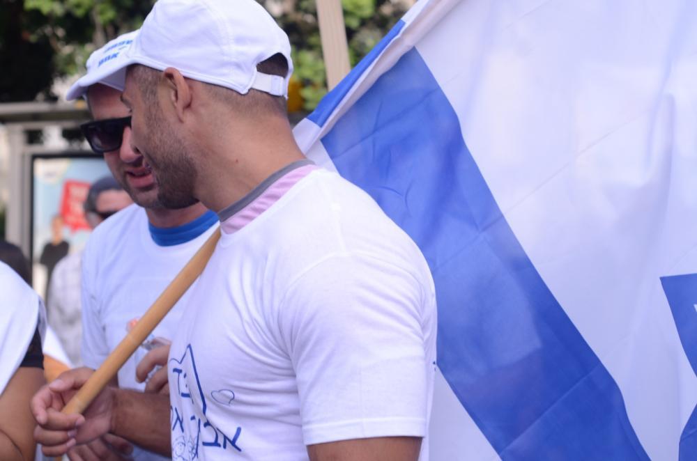 מאות מפגינים בצעדת המשפחה בנווה שאנן בחיפה 27/6/2019 (צילום: חגית אברהם)