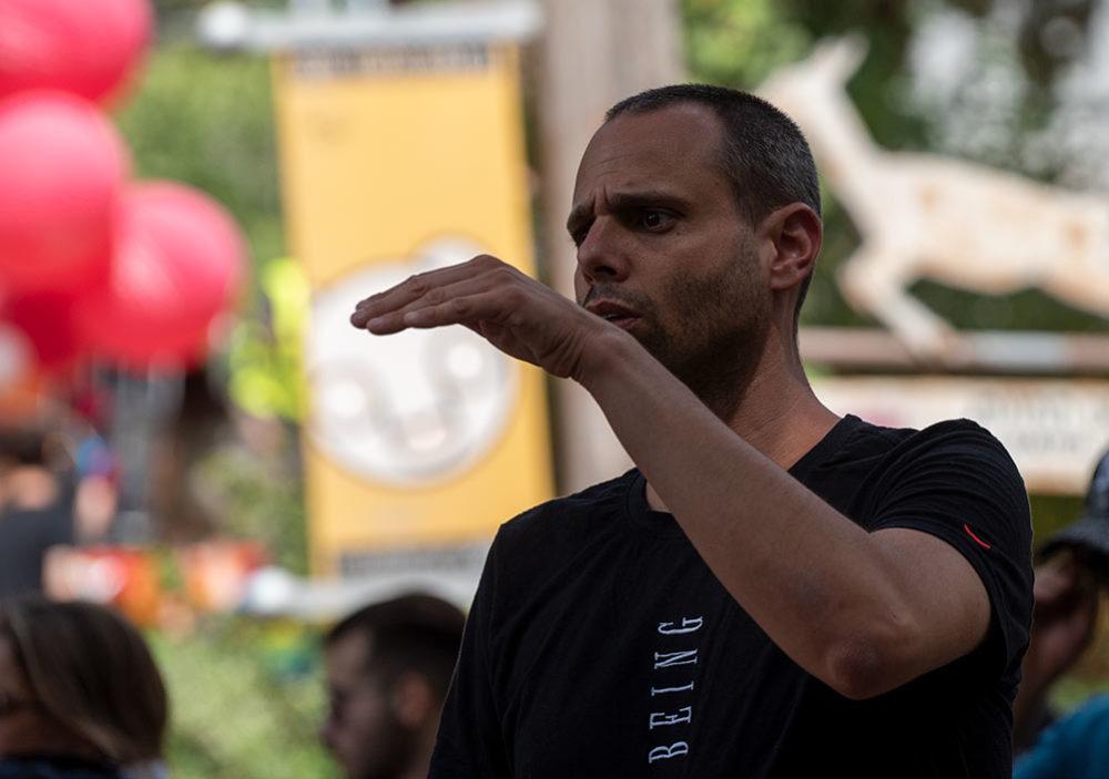 יובי קאופמן במצעד הגאווה בחיפה (צילום: ירון כרמי)