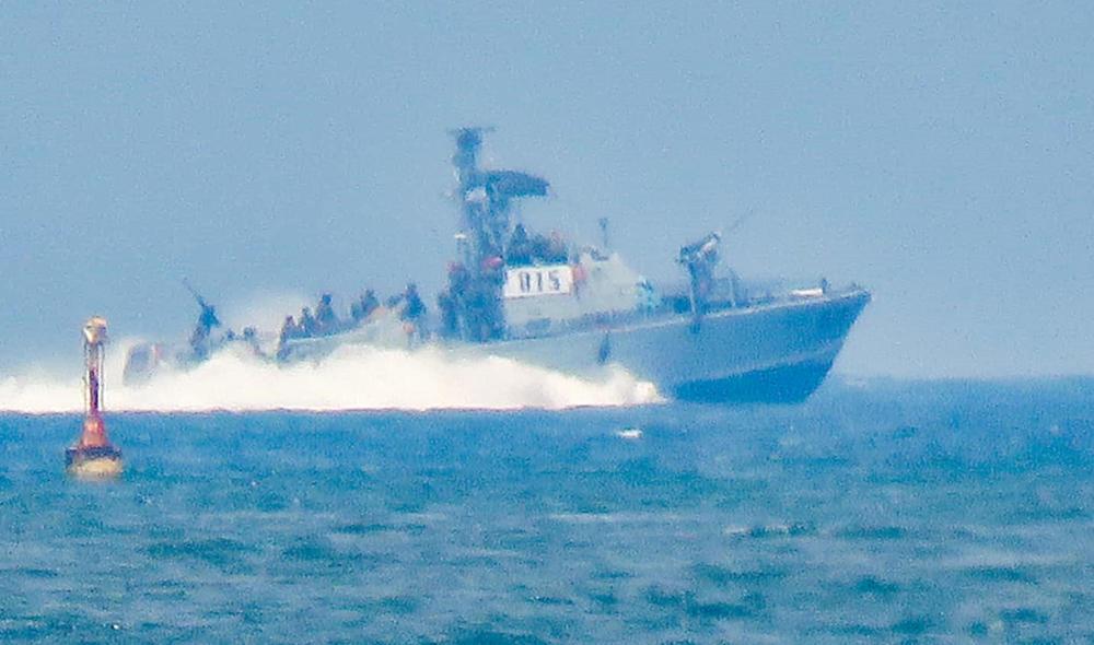 ספינות חיל הים בעת הפעילות הבוקר במפרץ חיפה (צילום: רותם הירשפלד - הום בראוזינג)