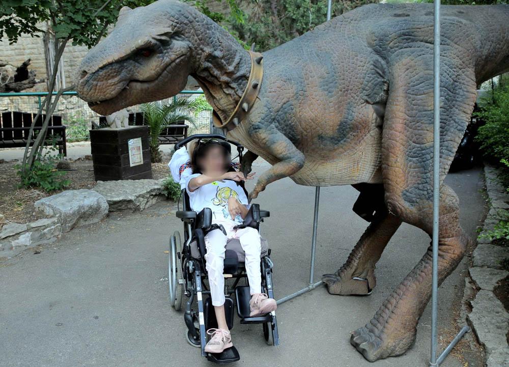 ילדים חולי סרטן ובעלי צרכים מיוחדים בהפנינג בגן החיות בחיפה 14/06/19 (צילום: גלית רוזן)