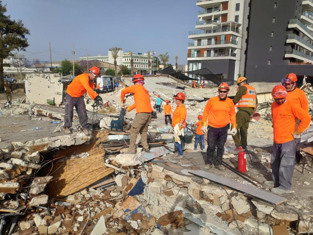 תרגיל היערכות לשעת חירום  עם כוחות חילוץ, הצלה ופיקוד העורף בחיפה 05/06/2019 (צילום: עדי לסקר)