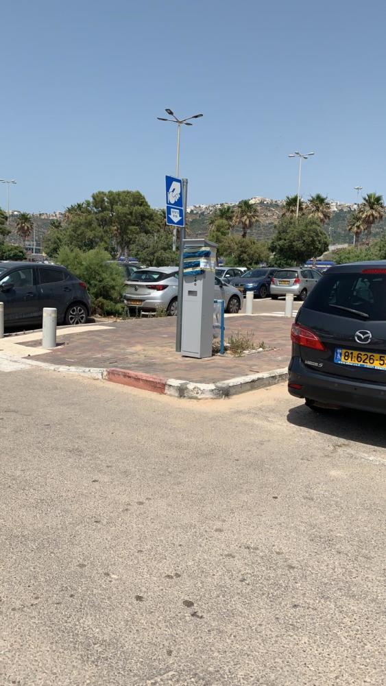 חניה בתשלום בחניונים הדרומיים בחופי חיפה (צילום: חי פה בשטח)