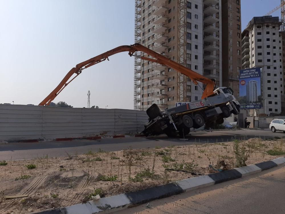 תאונת עבודה (צילום: איחוד הצלה כרמל)