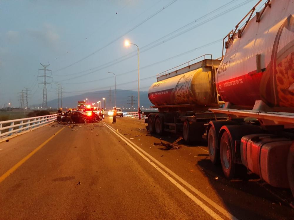 תאונת דרכים (צילום: איחוד הצלה כרמל)