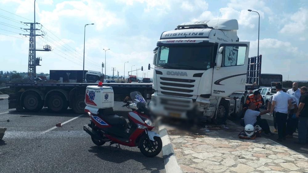 תאונה (צילום: איחוד הצלה כרמל)