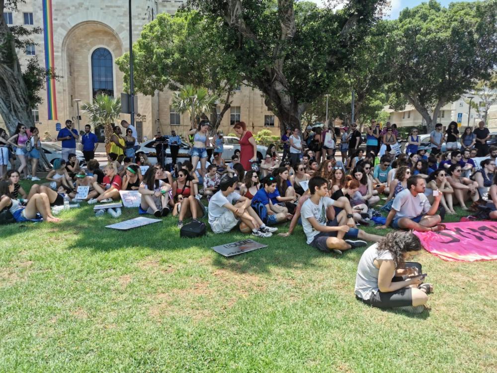צעדת השרמוטות חיפה (צילום: סמר עודה כרנתינג'י)