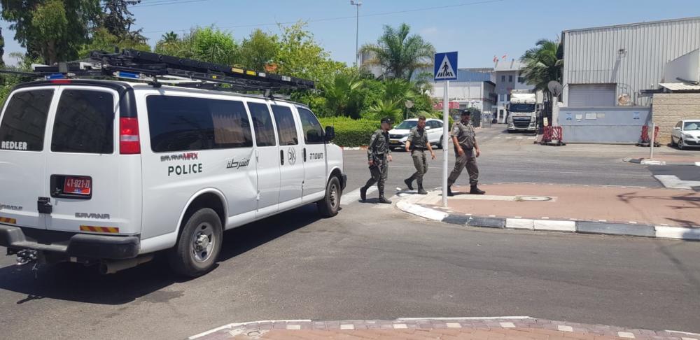 הערכת מצב (צילום: דוברות המשטרה)