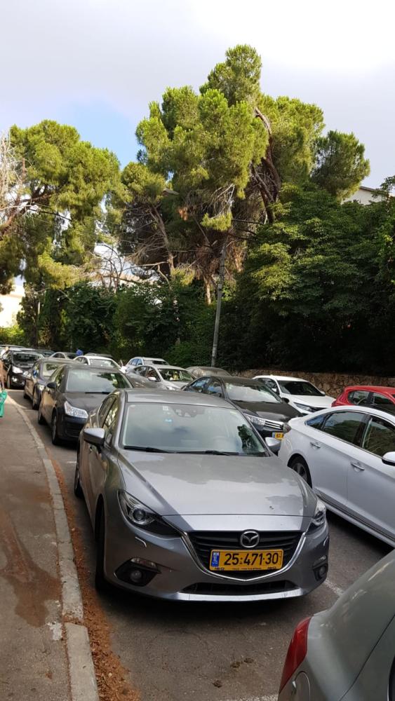 פקק ברחוה אהו'ד יותם בחיפה(צילום מאיה שפירר אבני)