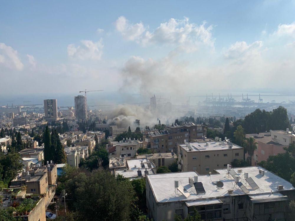 שריפה בבלפור בחיפה (איתמר זמיר)