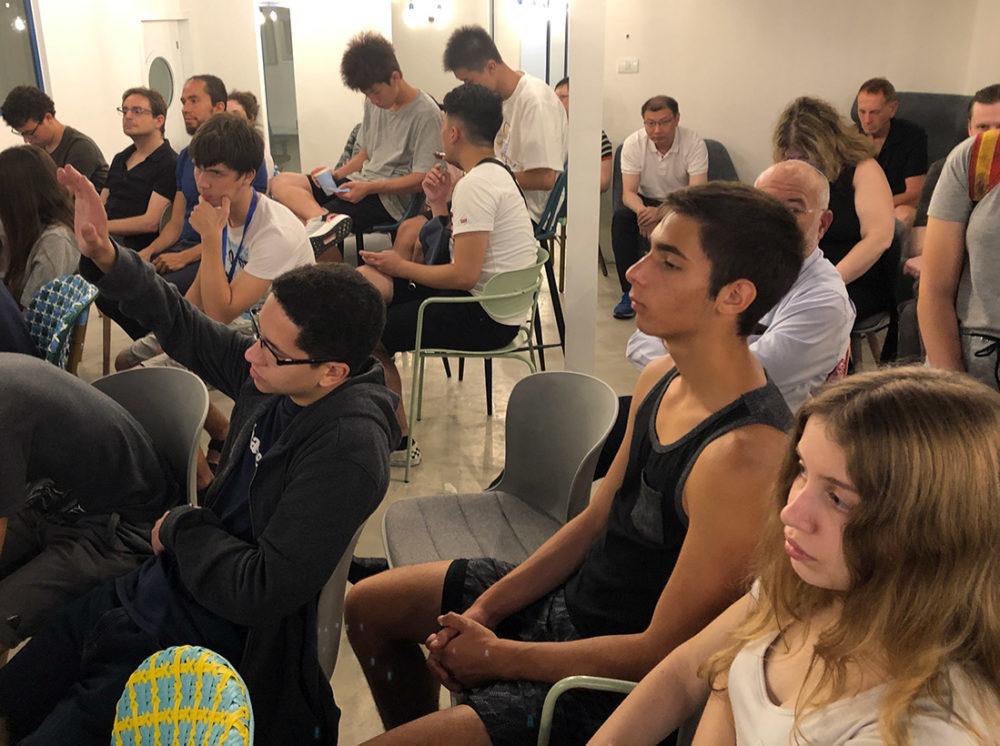 יזמים צעירים בפתיחת מיזם ה Haifateentech - 20/7/19