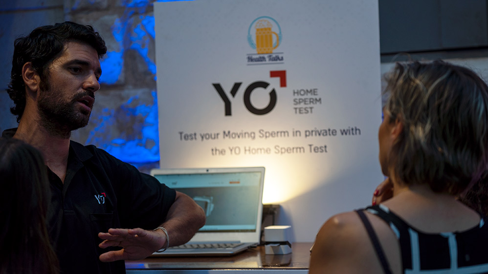 """ליאור שריקי ונגה כרמי בכנס """"מדברים רפואה"""" - Haifa Health talks (צילום: ירון כרמי)"""