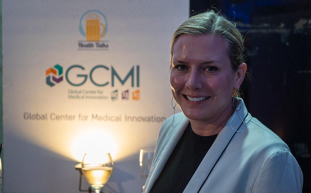 """טיף ווילסון (Tiffany Wilson) מחברת GCMI בכנס """"מדברים רפואה"""" - Haifa Health talks (צילום: ירון כרמי)"""