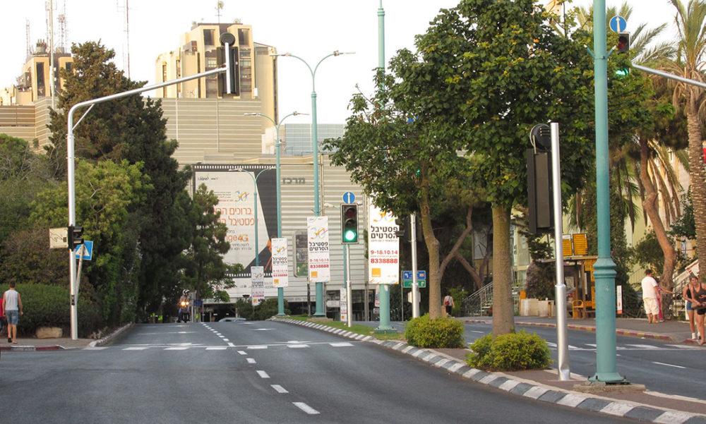 ציר מוריה והאודיטוריום בחיפה (צילום: ירון כרמי)