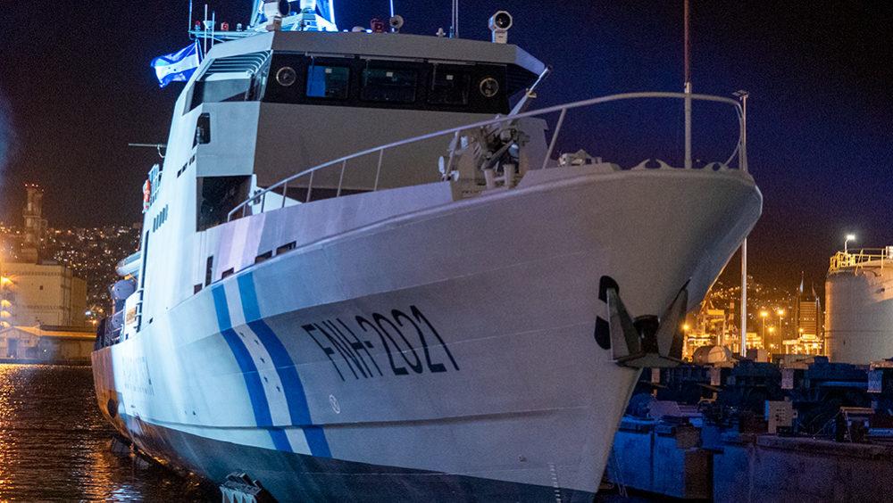 """סט""""יל שנבנה במספנות ישראל בחיפה ונמכר לחיל הים של הונדורס (צילום: ירון כרמי)"""
