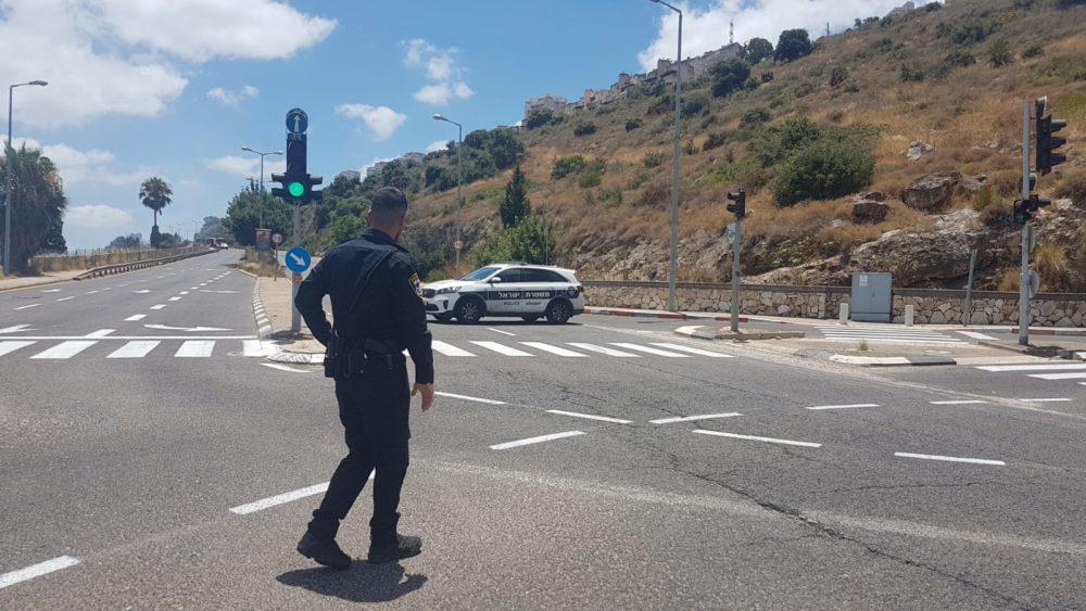 חסימת כבישים צילום משטרת ישראל
