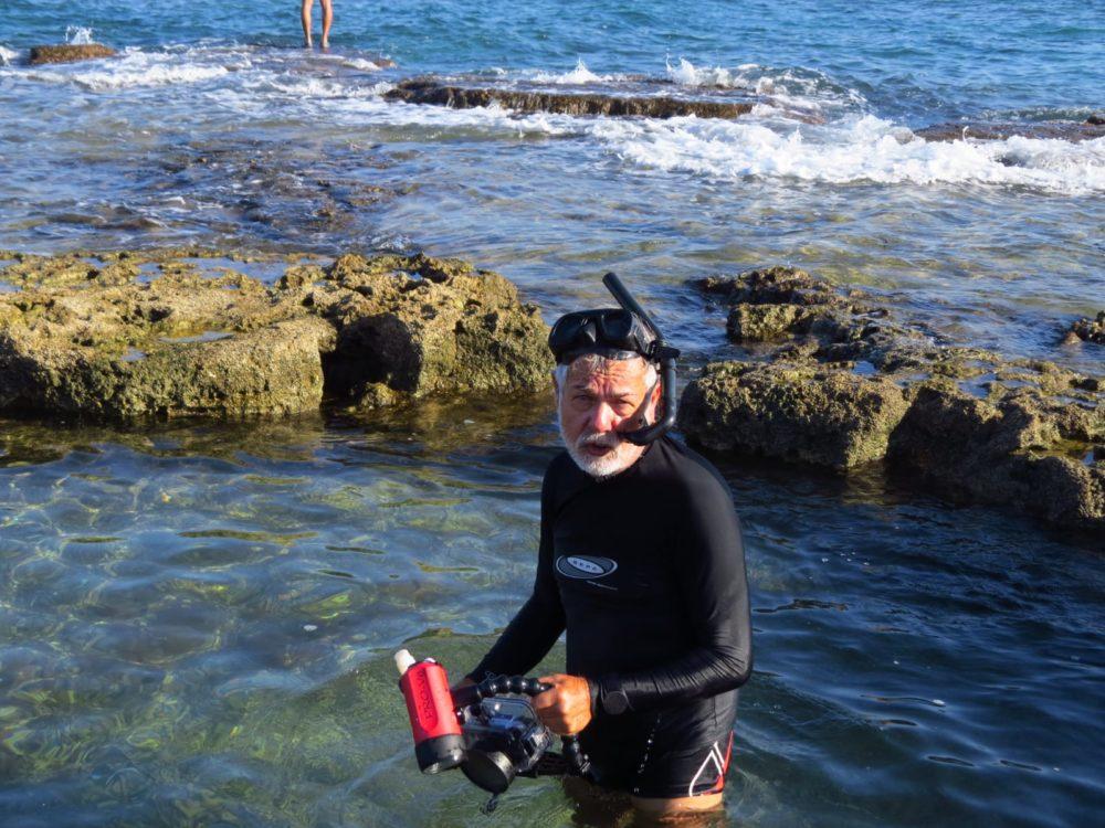 מוטי מנדלסון, חוקר וצלם תתי ימי (צילום: אלבום פרטי)