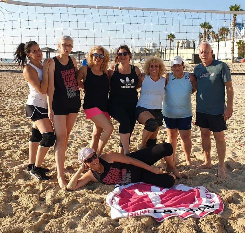 טורניר כדורשת נשים בחיפה - חוף מרידיאן (צילום: חי פה)